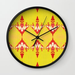 EVELYN - Pearl and Maude | Lemon, Acid and Crimson Pattern Wall Clock