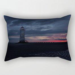 Talacre Lighthouse Sunrise Rectangular Pillow