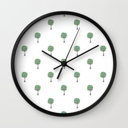 Scattered Trees Wall Clock