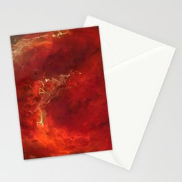Royal Red Marble Stationery Cards