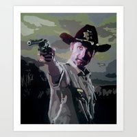 rick grimes Art Prints featuring Rick Grimes by Processed Image