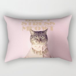 Don't Stress Meowt Rectangular Pillow