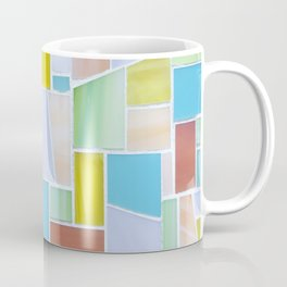 Tropical Mosaic Print Coffee Mug