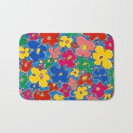 Free Form Funky Flowers by Nettwork2Design - Nettie Heron-Middleton Bath Mat