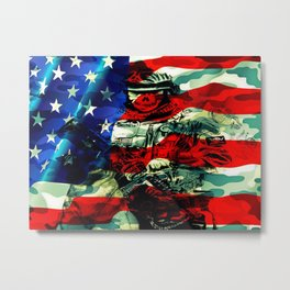 Military Branches of Service Metal Print