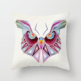 owl or butterfly? Throw Pillow
