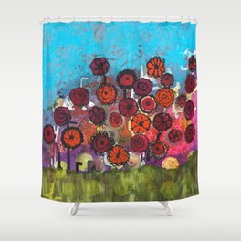 Bloomin Chaos Shower Curtain