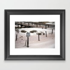 The Dunes Framed Art Print
