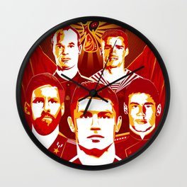 Russia football poster Wall Clock