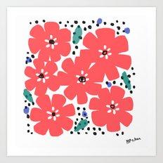 Big Red Flowers Art Print