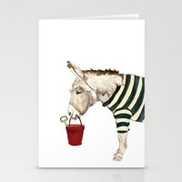 eeyore Stationery Cards featuring Life's A Beach by Mister Peebles