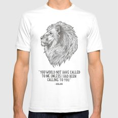 Aslan - You would not have called to me unless I had been calling to you Mens Fitted Tee White SMALL