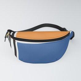 Irregular Shapes & Stripes / Orange & Blue Fanny Pack