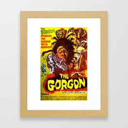 The Gorgon, vintage horror movie poster, 1964, poster Framed Art Print