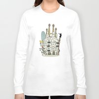 barcelona Long Sleeve T-shirts featuring Barcelona by Jaume Tenes