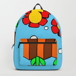 Inchie Clip - Hanging Flowers Blue Backpack
