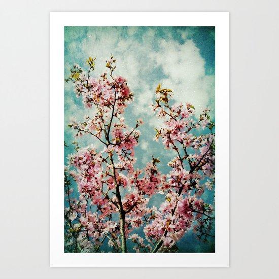 Blossom Pink Vintage Art Print