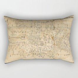 Map of Anxi and Qinghai Outside of Jiayuguan, China (1864) Rectangular Pillow