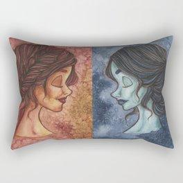 Fire and Ice Rectangular Pillow