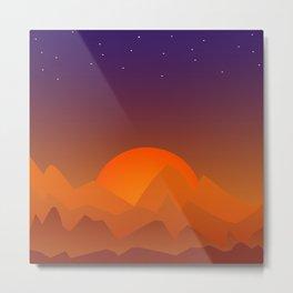 Slumbering Hills, Southwestern Landscape Art Metal Print