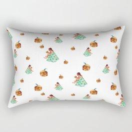 Girl Gone Coconuts Pattern Rectangular Pillow
