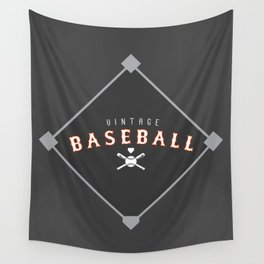 Vintage Baseball Design - Men's Wall Tapestry