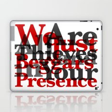 WE ARE ALL JUST THIEVES & BEGGARS IN YOUR (Matthew 15:27) Laptop & iPad Skin