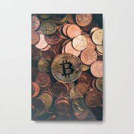 Bitcoin Metal Print