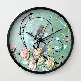 The Chickadee's Serenade Wall Clock
