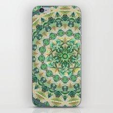 Luna Moth Meditation Mandala iPhone & iPod Skin