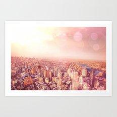 New York City Skyline of Light Art Print