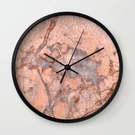 Pink Marbled Quartz Wall Clock