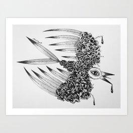 """ Spring"" (b&w) Art Print"