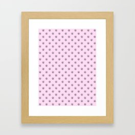 Black on Pink Lace Pink Snowflakes Framed Art Print