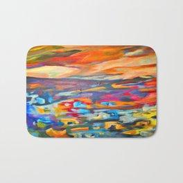 My Village | Colorful Small Mountainy Village Bath Mat
