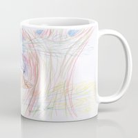 cheshire cat Mugs featuring cheshire cat by melissa E
