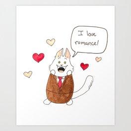 Lupin loves romance! Art Print