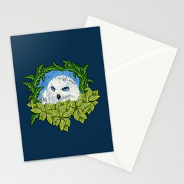 Mister Blue Eyes (Snowy Owl) Stationery Cards