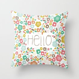 Funny flowers  Throw Pillow
