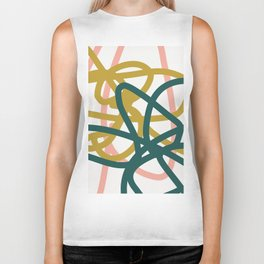 Abstract Lines 02A Biker Tank