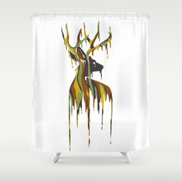 Painted Stag Shower Curtain