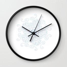 Swirl Line Mandala Wall Clock