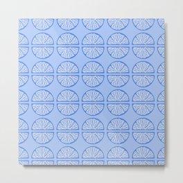 Blue orange slices Metal Print