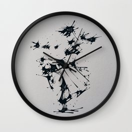 Splaaash Series - Dance Fighter Ink Wall Clock