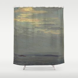 Tom Thomson Giant's Tomb, Georgian Bay 1914 Canadian Landscape Artist Shower Curtain