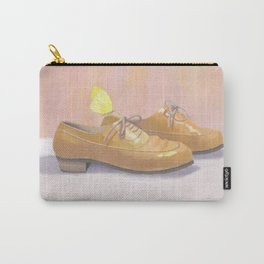 Happy shoes, yellow butterfly Carry-All Pouch