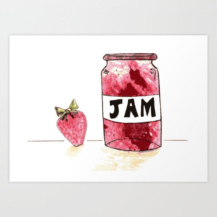 Strawberry VS Jam Art Print