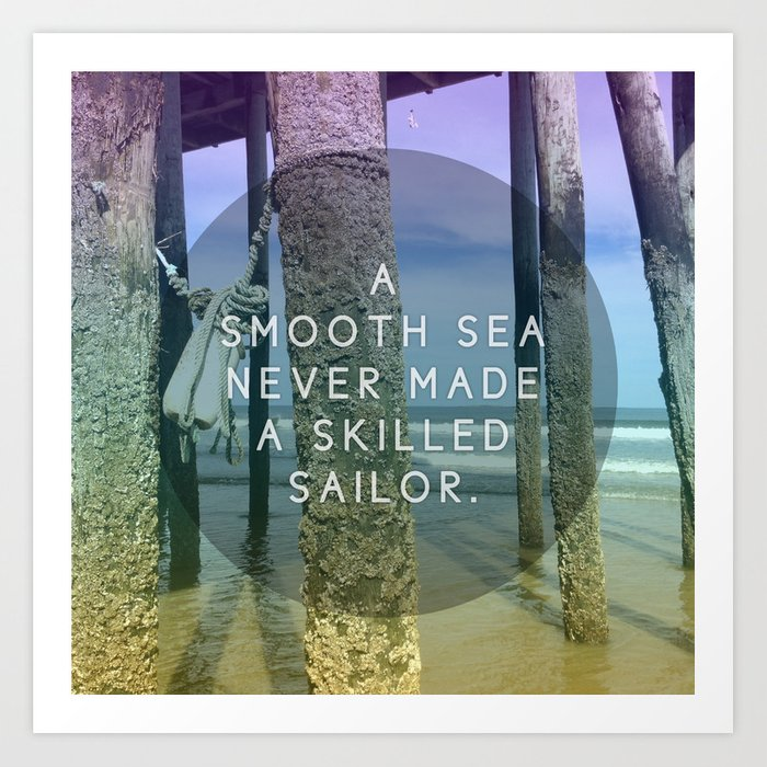 Smooth Sea Art Print