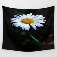 jewish Wall Tapestries featuring A daisy a day keeps the blues away by Brown Eyed Lady