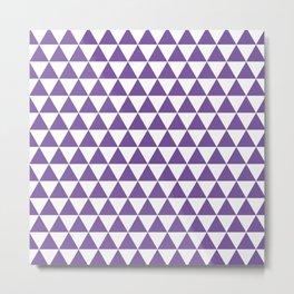 Purple Triangle Pattern Metal Print